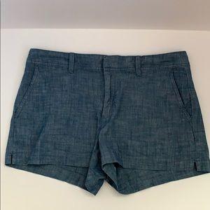 Gap chambray denim shorts size 10 EUC. Like new.